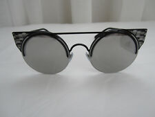 BVLGARI BV6088/239/6G/54/20 BLACK/GREY SILVER MIRROR SUNGLASESES 510$ 100% AUTH