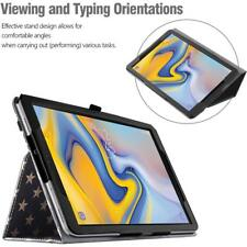 Galaxy Tab A 10.5 2018 Tablet Case Leather Stand Cover w/Auto Sleep/Wake US Flag
