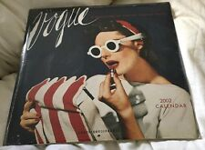RARE VOGUE MAGAZINE CALENDAR 2002 SEALED VINTAGE FASHION  IMAGES