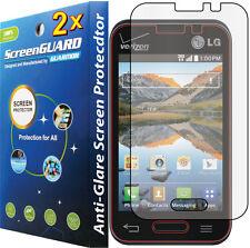 2x Anti-Glare LCD Screen Protector LG Optimus Fuel  Zone II 2 VS415 VS415PP L34C