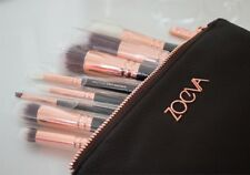 ZOEVA MAKEUP BRUSHES ROSE GOLD  LUXURY New Complete Set 15 Brushes+ Clutch Bag