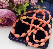 BELLISSIMO VINTAGE Intagliato Angelo Corallo/Collana di corallo-made in Japan