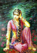 """Radha Crying at the exit of Krishna to Mathura : Poster Size - 20""""x16"""" inches"""