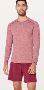 Lululemon Metal Vent Tech Long Sleeve Shirt Men's Size M Pullover Caliente/white