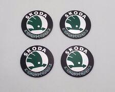 4PCS 56mm Car Wheel Center Hub Caps Trim Stickers Emblem Skoda Yeti Fabia 5641