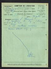 """REIMS (51) COMPTOIR DE L'INDUSTRIE / QUINCAILLERIE """"L. LAURENT & CARREE"""" en 1950"""