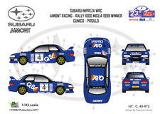 [FFSMC Productions] Decals 1/43 Subaru Impreza WRC Aimont 1000 Miglia 99 Winner