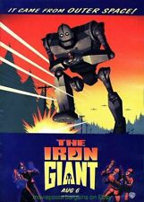The Iron Giant Movie Poster Original Ds 27x40 Rare Advance 1999 Animation Film