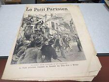 LE PETIT PARISIEN 482 1898 conflit espagne etats unis