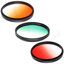 58mm Gradual Coffee, Green,Red Filters for Olympus E620, Zuiko 40-150mm lens