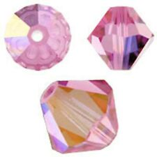 Swarovski Crystal Bicone. Rosaline AB Color. 4mm. Approx. 144 PCS. 5328