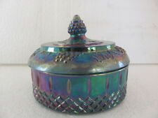 BLUE CARNIVAL GLASS 6x5 DIAMOND SHAPE CANDY DISH (PRICE REDUCED)