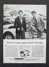 G608-Advertising Pubblicità-1980 - FERODO LINO BOFFANO , PIERO LARDI FERRARI