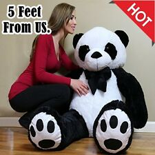 Giant Animal Stuffed Panda Soft Plush Toy For Kid Bedroom Big Huge Pillow 5 FT