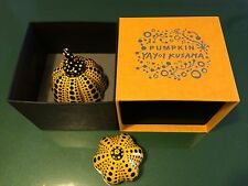RARE Yayoi Kusama Japan Artist Pumpkin Paperweight Object Sculpture 2 pieces F/S