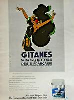 PUBLICITÉ DE PRESSE 1977 GITANES CIGARETTES DE LA RÉGIE FRANÇAISE - RENÉ VINCENT