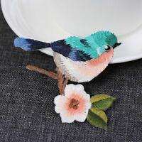Birds Embroidered Iron On/Sew On Patches Badge Hat Fabric Applique Clothes Craft