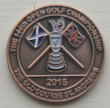 2015 OPEN GOLF CHAMPIONSHIP LARGE BRONZE LIMITED EDITION COIN GREAT BALL MARKER