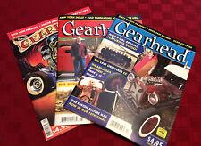 Lot of 3 Gearhead® Magazines #13, #15 & 17 Hot Rods Kustom Kulture Automotive