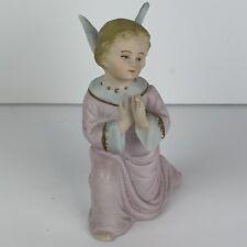 Vintage Pink Ceramic Christmas Angel
