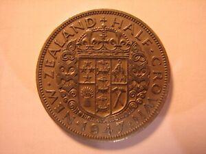 1947 New Zealand Half Crown.