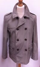 MENS TOPMAN TAUPE TRENCH JACKET SIZE LARGE