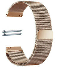 Rose Gold Magnetic Clasp Metal Steel Mesh Milanese Bracelet Watch Band Strap #44