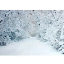 5x7FT Snow Studio Backdrops Christmas White Photography Photo Props Background