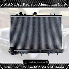 MANUAL Radiator Aluminium Core for Mitsubishi Triton MK V6 3.0L 6Cyl 1996-2006