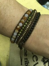New Mother of Pearl Amber Stretchable Bracelet