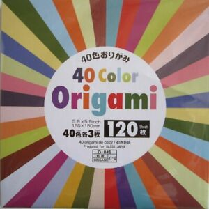40 Color Origami 120 Sheets 10set Folding Paper Crafts Scrapbooking 15 x 15