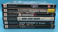 6 Ps2 Games Ghost Recon, Madden 07, The Bigs, Etc. Complete And Tested -See Pics