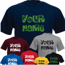 Your Name Marijuana Pot Font Personalised New Funny Gift Birthday T-shirt