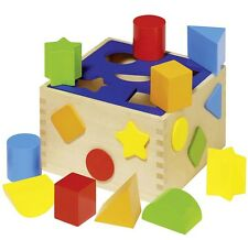 Sortierbox Steckbox Formen-Box HOLZ Sortbox Steckspiel Motorik Koordination