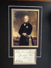 HENRY HARDINGE - BRITISH FIELD MARSHAL - WATERLOO - SIGNED COLOUR DISPLAY