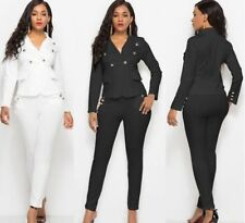 Suit Set For Women Pant Single Button Business Blazer Formal Casual Work Wear