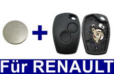2Tasten Auto Schlüssel Gehäuse für RENAULT Kangoo Clio Master Twingo + Batterie