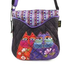 LAUREL BURCH Quilted Crossbody Shoulder Bag ~ TWO WISHES Bag Charm/Mirror ~ New