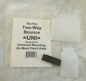 Sto-Fen Two-Way Bounce Uni Stofen Flash Diffuser Universal Mounting Flash Unit