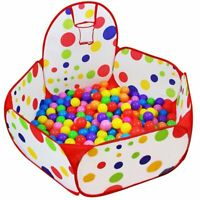 Kids Ball Pit Playpen Ball Tent Pool with Basketball Hoop & Zippered Storage Bag