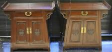 Pair Of Vintage Chinese Side Cabinets W/ Drawer Lot 3239