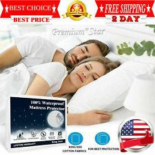 Premium Mattress Cover Protector Waterproof Pad King Size Bed Cover Hypoallergen