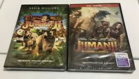 Jumanji: Welcome to the Jungle and Original Jumanji Classic DVD BRAND NEW SET