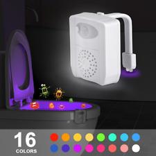 LED Toilet Bowl Night Light Gadget - Motion Activated Seat Sensor - 16 Colours!