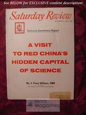 Saturday Review November 8 1958 NANCY HALE J. TUZO WILSON HARRISON SALISBURY
