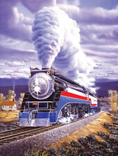 """SOUTHERN PACIFIC RAILROAD JIGSAW PUZZLE - Freedom Train """"Steel Patriot"""" 500 pc."""