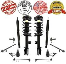 Suspension Kit Strut & Coil Spring Assembly & Shocks + Tie Rods Ball Joints Link