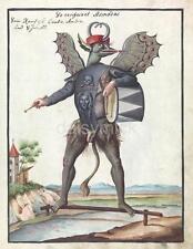 Demon Devil Asmodai Asmodeus Monster Angel Lust 1766 7x5 Inch Reprint Print