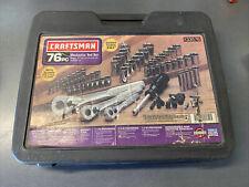 Craftsman 933576 33576 Mechanics Tool Set 76 pc Sockets Ratchets Metric SAE USA