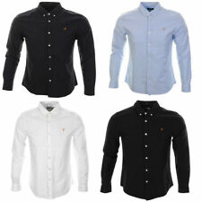 Farah Long Sleeve Slim Collared Casual Shirts & Tops for Men